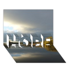View   On The Lake Hope 3d Greeting Card (7x5)  by Costasonlineshop