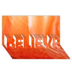 Floating Orange Believe 3d Greeting Card (8x4)  by timelessartoncanvas