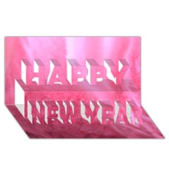 Floating Pink Happy New Year 3d Greeting Card (8x4)  by timelessartoncanvas