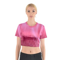 Floating Pink Cotton Crop Top by timelessartoncanvas
