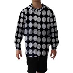 Circles1 Black Marble & Silver Brushed Metal Hooded Wind Breaker (kids)