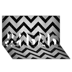 Chevron9 Black Marble & Silver Brushed Metal (r) #1 Dad 3d Greeting Card (8x4) by trendistuff
