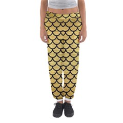 Scales1 Black Marble & Gold Brushed Metal (r) Women s Jogger Sweatpants by trendistuff