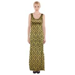 HXG1 BK MARBLE GOLD (R) Maxi Thigh Split Dress by trendistuff