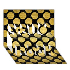 CIR2 BK MARBLE GOLD You Rock 3D Greeting Card (7x5)  by trendistuff