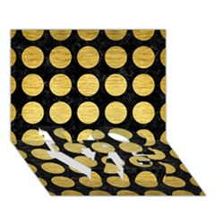 Circles1 Black Marble & Gold Brushed Metal Love Bottom 3d Greeting Card (7x5) by trendistuff