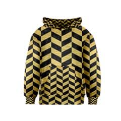 CHV1 BK MARBLE GOLD Kids  Pullover Hoodie by trendistuff