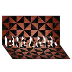 Triangle1 Black Marble & Copper Brushed Metal Engaged 3d Greeting Card (8x4) by trendistuff