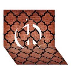 Tile1 Black Marble & Copper Brushed Metal (r) Peace Sign 3d Greeting Card (7x5) by trendistuff