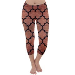 Tile1 Black Marble & Copper Brushed Metal (r) Capri Winter Leggings  by trendistuff