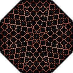 Tile1 Black Marble & Copper Brushed Metal Golf Umbrella by trendistuff
