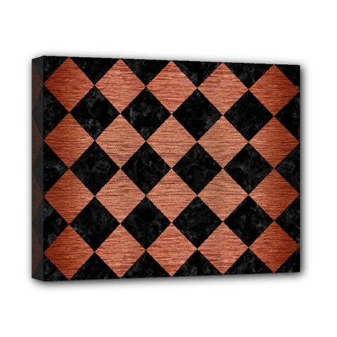 Square2 Black Marble & Copper Brushed Metal Canvas 10  X 8  (stretched) by trendistuff