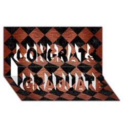 Square2 Black Marble & Copper Brushed Metal Congrats Graduate 3d Greeting Card (8x4) by trendistuff