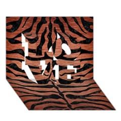 Skin2 Black Marble & Copper Brushed Metal (r) Love 3d Greeting Card (7x5) by trendistuff