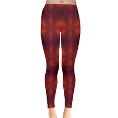 Brown Diamonds Pattern Leggings  by Costasonlineshop