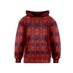 Brown Diamonds Pattern Kids  Pullover Hoodie by Costasonlineshop