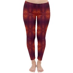Brown Diamonds Pattern Winter Leggings  by Costasonlineshop