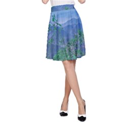 Fantasy Landscape Photo Collage A Line Skirt by dflcprintsclothing