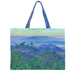 Fantasy Landscape Photo Collage Large Tote Bag by dflcprints
