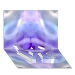 Beautiful Blue Purple Pastel Pattern, Love Bottom 3d Greeting Card (7x5)  by Costasonlineshop