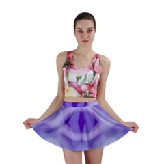 Beautiful Blue Purple Pastel Pattern, Mini Skirts by Costasonlineshop