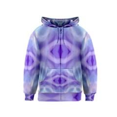 Beautiful Blue Purple Pastel Pattern, Kids  Zipper Hoodie by Costasonlineshop