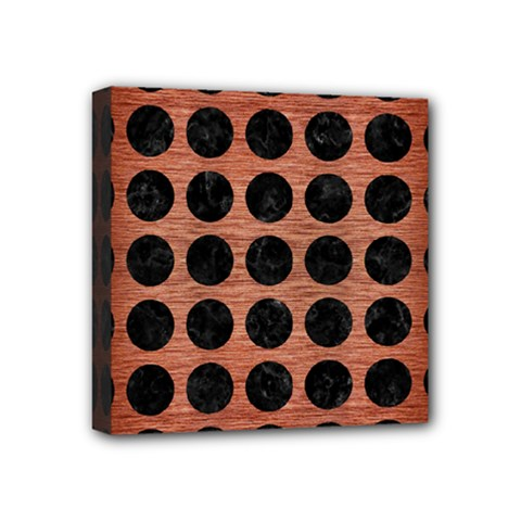 CIR1 BK MARBLE COPPER (R) Mini Canvas 4  x 4  by trendistuff