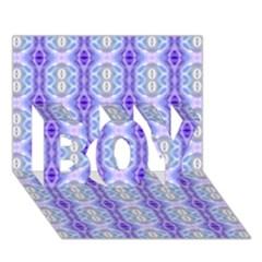 Light Blue Purple White Girly Pattern Boy 3d Greeting Card (7x5) by Costasonlineshop