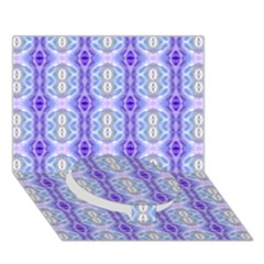 Light Blue Purple White Girly Pattern Circle Bottom 3d Greeting Card (7x5)  by Costasonlineshop