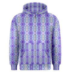 Light Blue Purple White Girly Pattern Men s Zipper Hoodie by Costasonlineshop