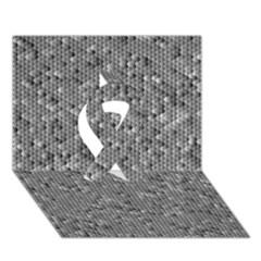Modern Design 1 Ribbon 3d Greeting Card (7x5)  by timelessartoncanvas