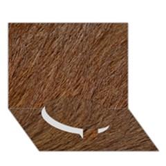 Orange Fur Circle Bottom 3d Greeting Card (7x5)  by timelessartoncanvas