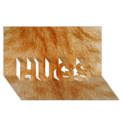 Orange Fur 2 Hugs 3d Greeting Card (8x4)  by timelessartoncanvas
