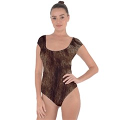 Silber Tiger Fur Short Sleeve Leotard (ladies) by timelessartoncanvas