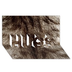 Black and White Silver Tiger Fur HUGS 3D Greeting Card (8x4)  by timelessartoncanvas
