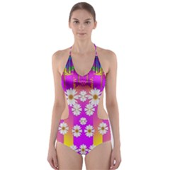 Over And Under The Rainbow Is Love Cut Out One Piece Swimsuit