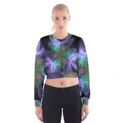 Ethereal Flowers Women s Cropped Sweatshirt by Delasel