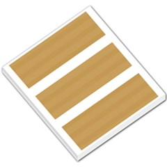Beige/ Brown And White Stripes Design Small Memo Pads by timelessartoncanvas