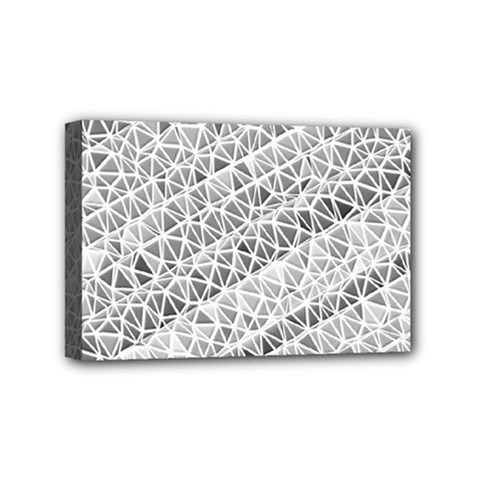 Silver Abstract And Stripes Mini Canvas 6  X 4  by timelessartoncanvas