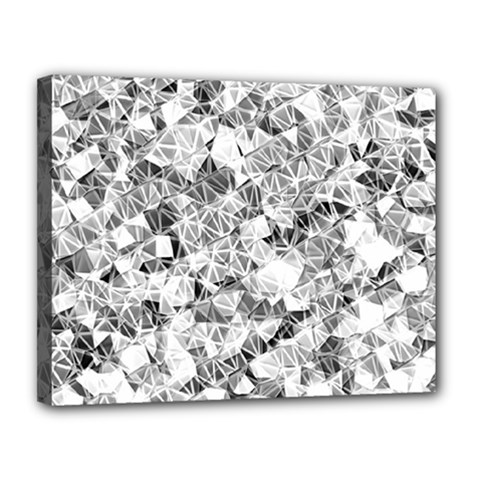Silver Abstract Design Canvas 14  X 11  by timelessartoncanvas