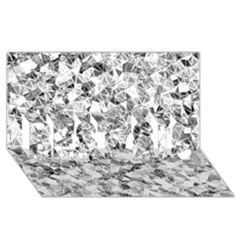 Silver Abstract Design Best Sis 3d Greeting Card (8x4)  by timelessartoncanvas