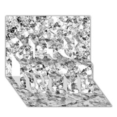 Silver Abstract Design Get Well 3d Greeting Card (7x5)  by timelessartoncanvas