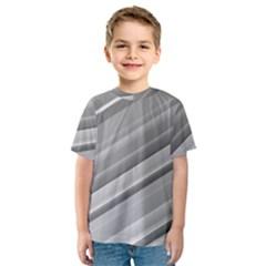 Elegant Silver Metallic Stripe Design Kid s Sport Mesh Tee by timelessartoncanvas