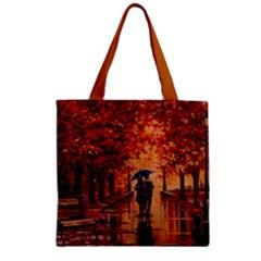 Unspoken Love Zipper Grocery Tote Bag by ArtByThree