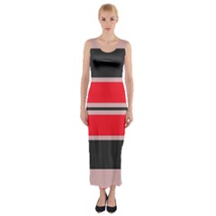 Rectangles In Retro Colors  Fitted Maxi Dress by LalyLauraFLM