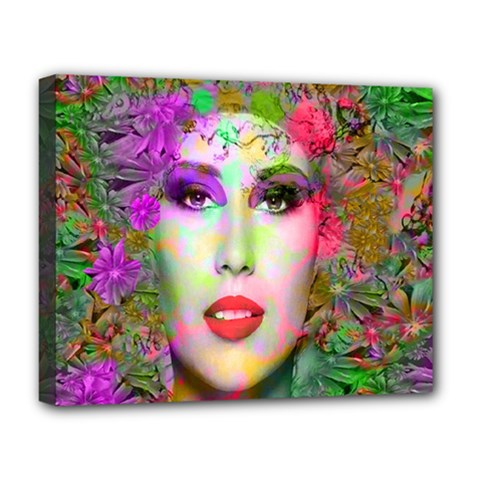 Flowers In Your Hair Deluxe Canvas 20  X 16   by icarusismartdesigns