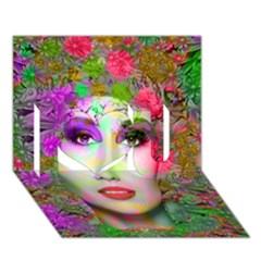 Flowers In Your Hair I Love You 3d Greeting Card (7x5)  by icarusismartdesigns
