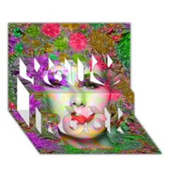 Flowers In Your Hair You Rock 3d Greeting Card (7x5)  by icarusismartdesigns