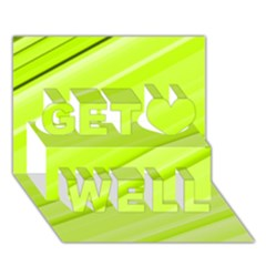 Bright Green Stripes Get Well 3d Greeting Card (7x5)  by timelessartoncanvas