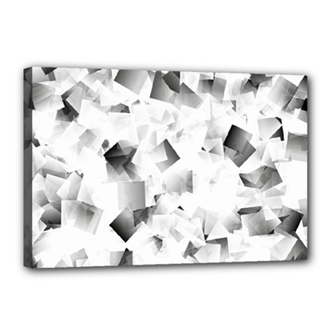 Gray And Silver Cubes Abstract Canvas 18  X 12  by timelessartoncanvas
